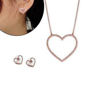 Kate Spade Rose Heart Short Stud Earring Set